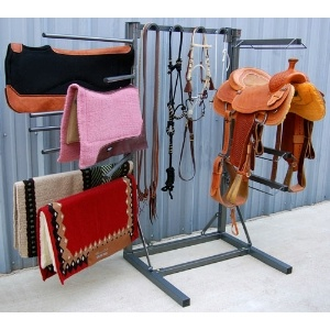Space Saver Horse Tack Room Organizer. Need one of these in our house!