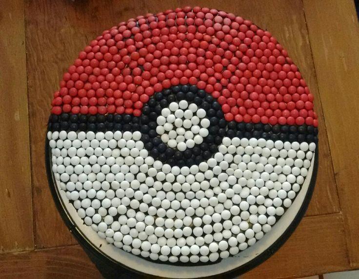 Pastel pokeball   Del cumpleaños #8 de Pokemon