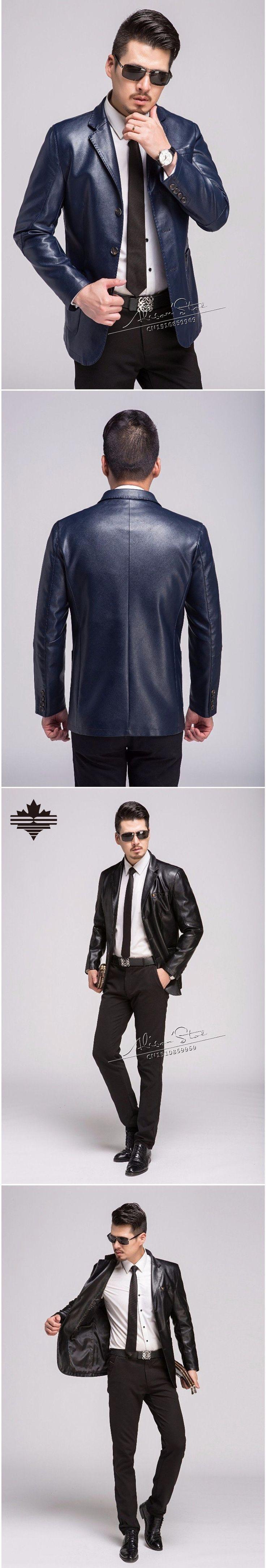Men s Faux Leather Jacket