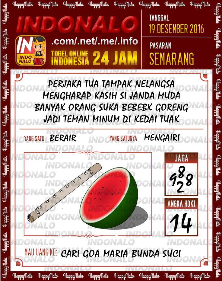 Undian Lotre 3D Togel Wap Online Live Draw 4D Indonalo Semarang 19 Desember 2016