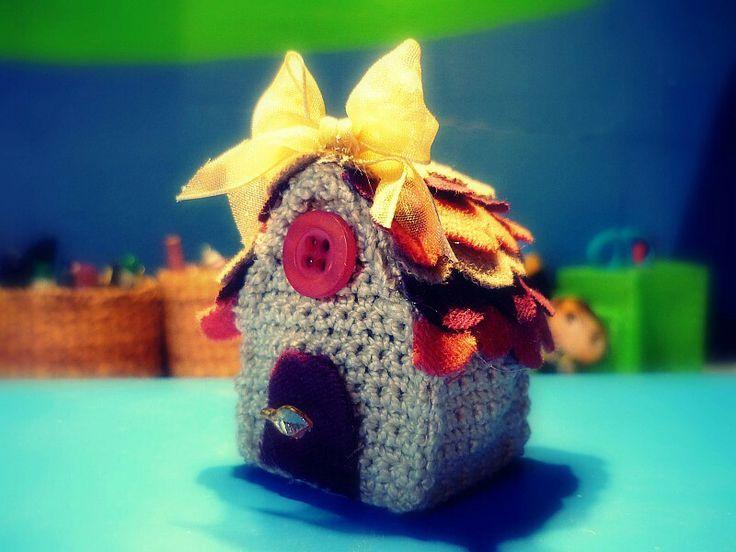 Mini casa amigurumi
