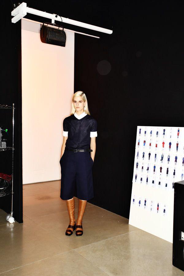 Jil Sander Fashion show backstage, more photos here > http://sonnyphotos.com/2014/09/jil-sander-ss15-fashion-show-milan-backstage