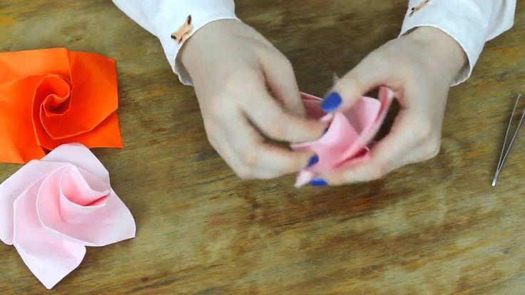 DIY: Papierowe róże tutorial