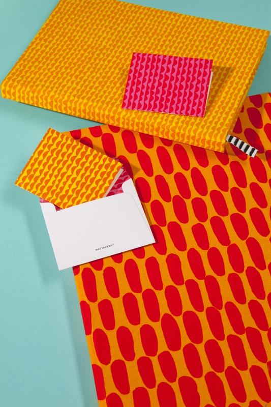 Marimekko´s colorful orange and magenta Stationery makes a statement