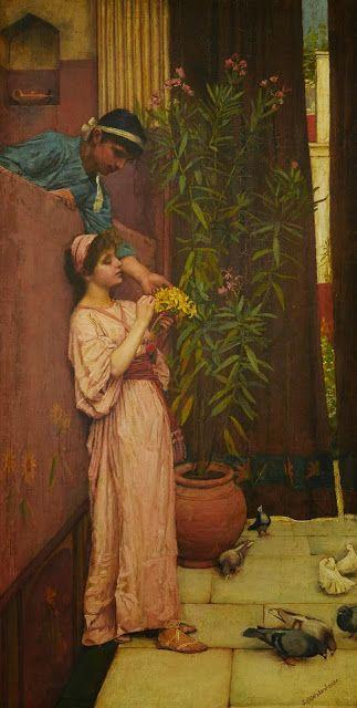 """The Courtship"" -  John William Waterhouse"