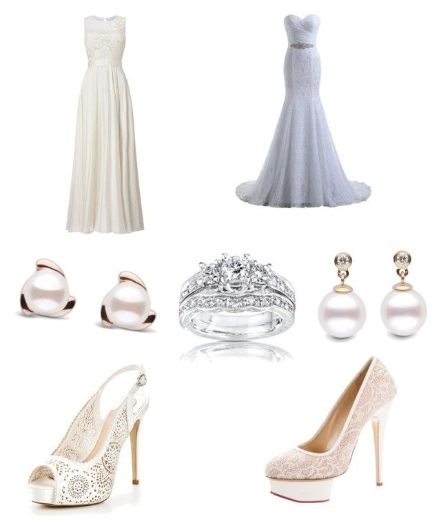 """""""Wedding day"""" by jibrianeloms ❤ liked on Polyvore featuring beauty, Phase Eight, Moda In Pelle, Charlotte Olympia and Kobelli"""