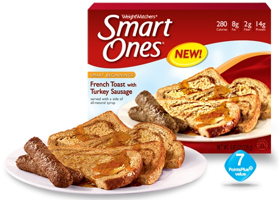 French Toast with Turkey Sausage - Weight Watchers® Smart Ones®: Breakfast French Toast, Healthy Breakfast, Scavengerhuntsweep, Sausages Smart One Sweepstak, Sausages Smart One Breakfast, Sausages French, High Fiber Meals, Weights Watcher, Turkey Sausages