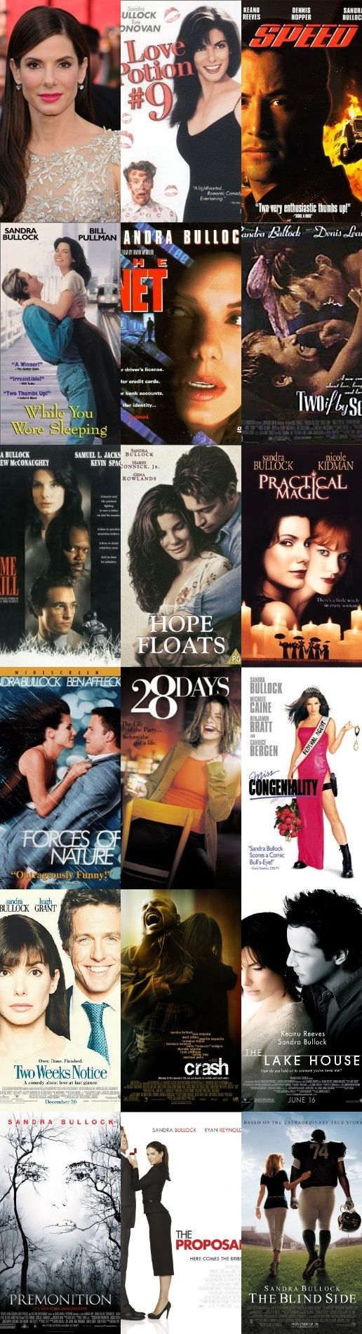 All Sandra Bullocks movies.. how cool is this!!!!!!!!!!!!!