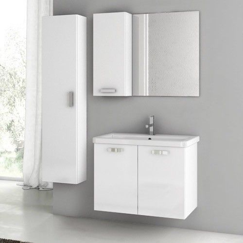 "City Play 32"" Single Bathroom Vanity Set with Mirror"