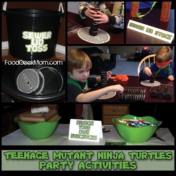 Owen's TMNT Party | Food Geek Mom - Turtle Games