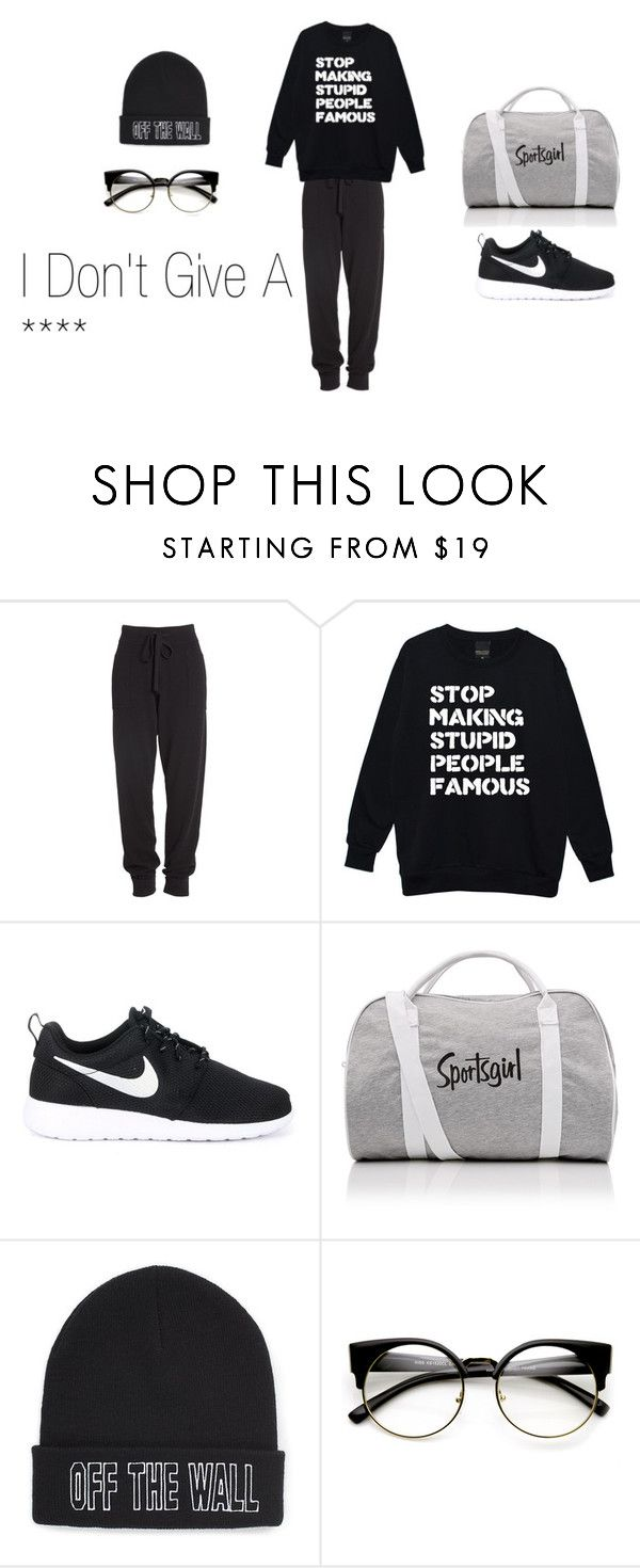 """I Don't Give A"" by chloejmo on Polyvore featuring Donna Karan, NIKE and Vans"
