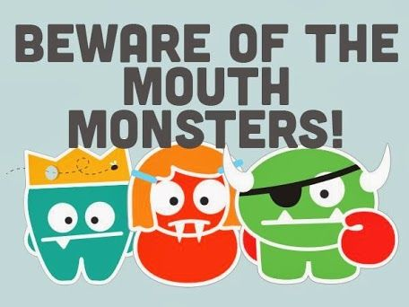 """Download the """"Mouth Monster Defense Kit"""" with AWESOME posters, award certificates and a parent's tip sheet at http://www.mychildrensteeth.org/mouth_monsters/    Beware the Mouth Monsters! With the help of the American Academy of Pediatric Dentistry, you can join the Monster-Free Mouths Movement and keep your child's mouth free of creatures like Ginger Bite-Us, Tartar the Terrible and Tooth D.K. Tooth decay is the number one chronic infectious disease among children in the U.S.,"""