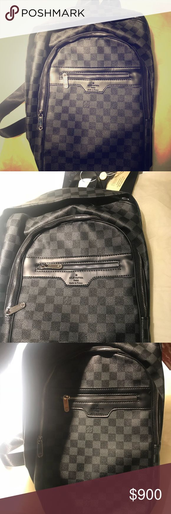 Louis Vuitton Graphite Damier backpack Small Louis Vuitton men's graphite backpack Louis Vuitton Bags Backpacks