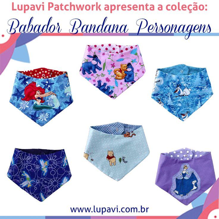 Nova Coleção Babador Bandana Personagens. Babadores lindos, fashion e divertidos para o seu bebê.  www.lupavi.com.br/babador-bandana-personagens  Babador Bandana Personagens, R$22 WhatsApp (21)96782-5745  www.lupavi.com.br  #LupaviPatchwork #artesanato #customizado #personalizado #patchwork #infantil #bebê #BabadorBandana #DuplaFace #Babador #Bandana #estampas #personagens #princesas #ariel #cinderela #fada #sininho #ThinkerBell #fadinha #urso #UrsinhoPooh #Pooh #bisonho #ursinho #frozen…