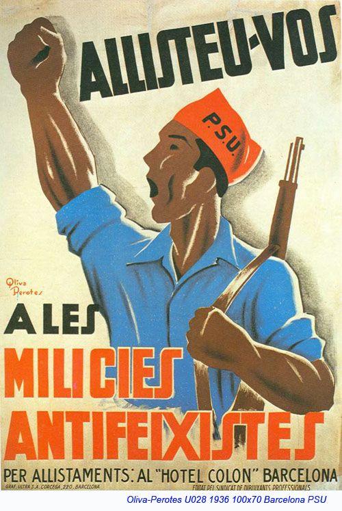 Spain - 1936. - GC - poster - Julian Oliva