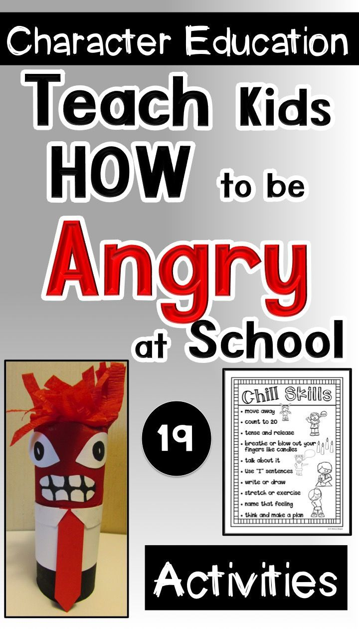Anger Management for Primary Kids: Teach kids appropriate ways to deal with anger through reading, role playing, writing, and this Inside Out craft.