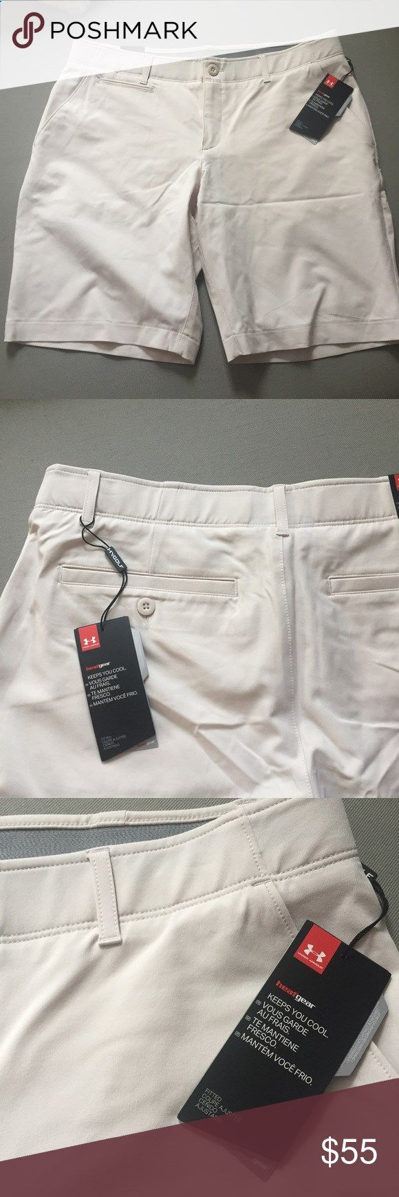 Under Armour Shorts Great golf shorts that can be worn all summer for any occasion. HeatGear fabric that keeps you cool and dry. UPF 30 sun protection. Under Armour Shorts
