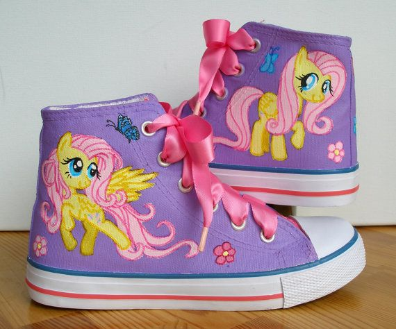 Ready Hand painted Children My Little Pony shoes, Fluttershy UK1 /US 2 /EU 33 on Etsy, $78.60