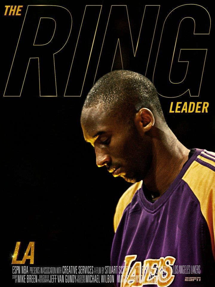 LA. Lakers the Leader Kobe Bryant #24, 5 Championship Rings going for number 6.