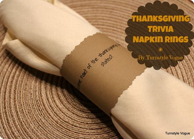 thanksgiving trivia napkin rings