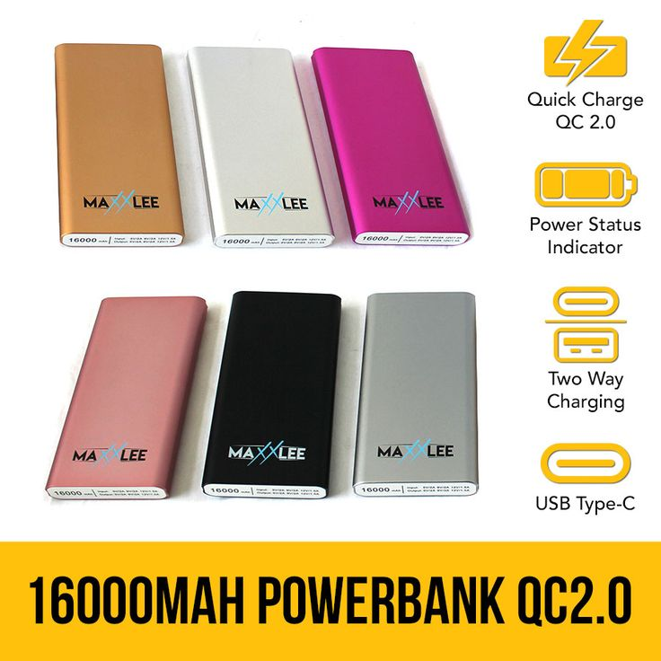 16000 mAh Powerbank Battery Charger QC2.0 Type-C Portable Quick Charge USB