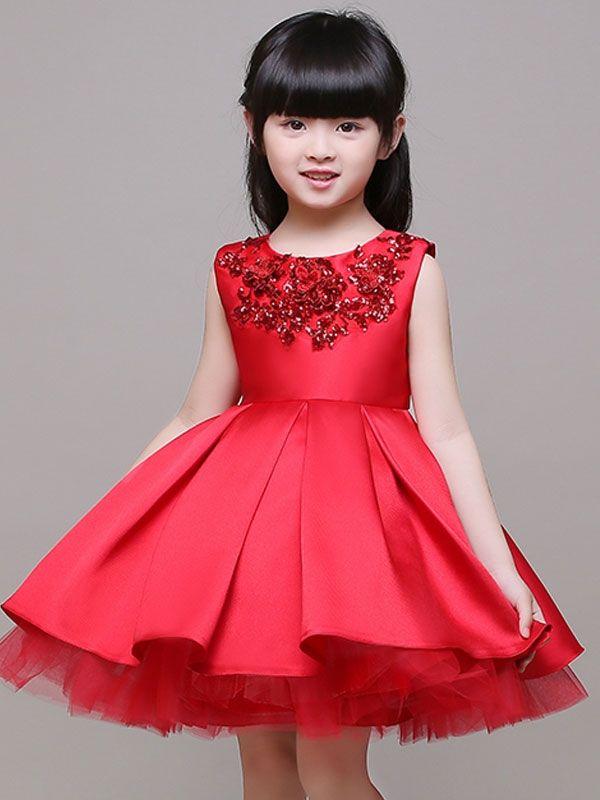 Vestidos rojos cortos de nina