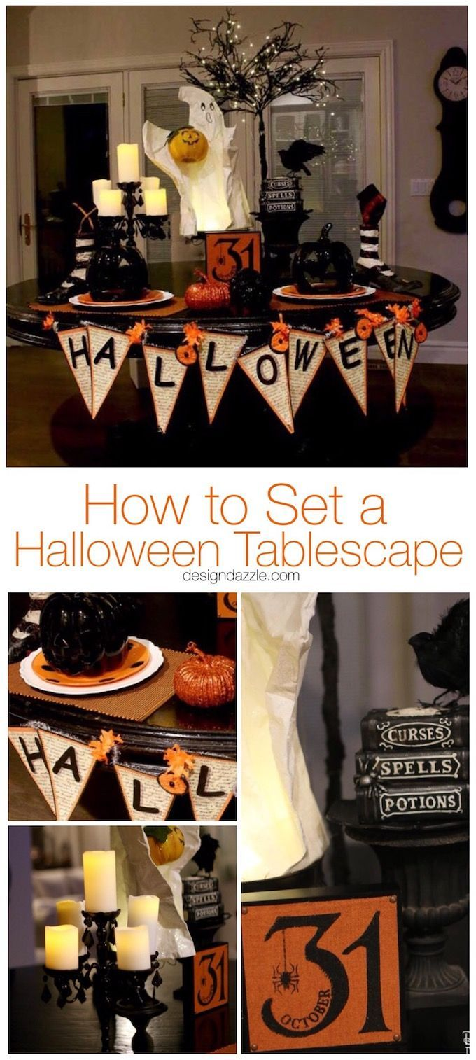 Having a cute Halloween tablescape is my favorite part of my Halloween decor!  See how