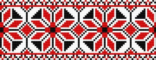 haft ludowy | Motyw 090 (haft ukraiński, ludowy, ornament, ukrainian embroidery)