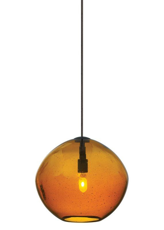 View the lbl lighting mini isla amber 1 light track pendant at lightingdirect com