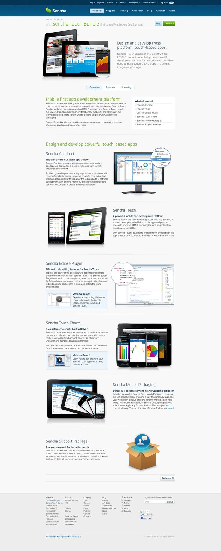 Mobile first app dev platform for touch-based apps | Sencha Touch Bundle | Products | Sencha | Awesome Screenshot