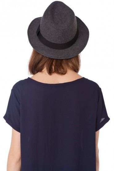 Miles Fedora in Charcoal