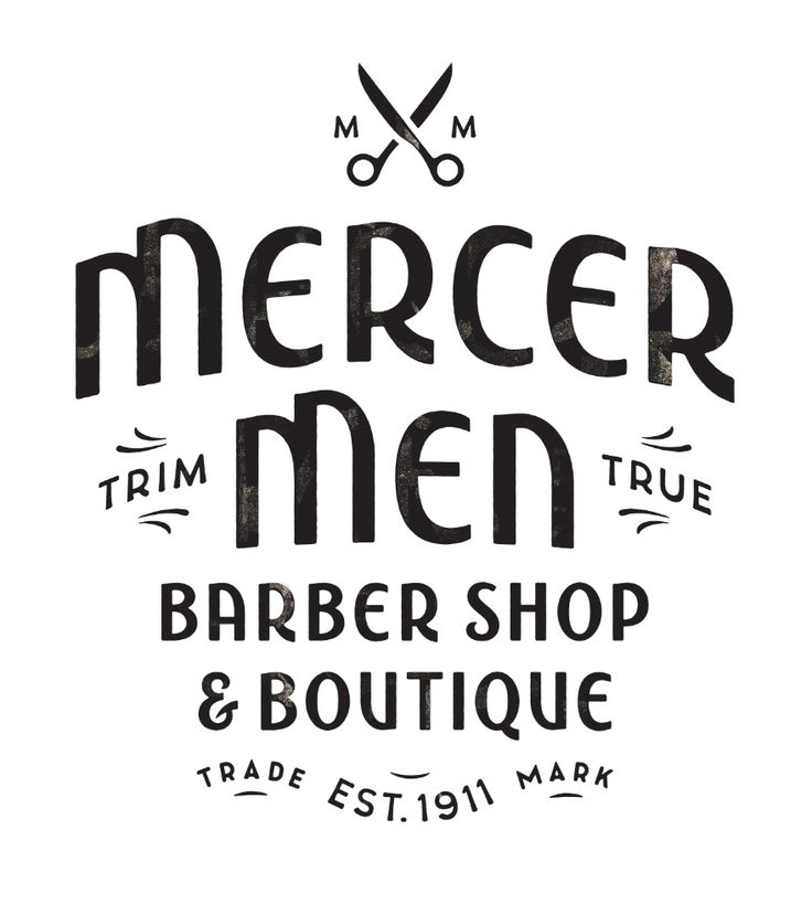 "beautifultype:    ""Mercer Men"" : lettering handcrafted by Simon Walker for a barber shop logo somewhere in Canada. Don't forget to check Simon's portfolio cause it's hot. Pssst ! He's also on Dribbble."