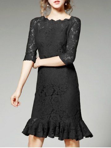 GET $50 NOW   Join RoseGal: Get YOUR $50 NOW!http://m.rosegal.com/lace-dresses/scalloped-floral-lace-mermaid-dress-1087434.html?seid=6110022rg1087434