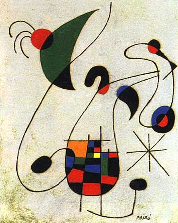 Joan Miró - The Melancholic Singer                                                                                                                                                                                 More