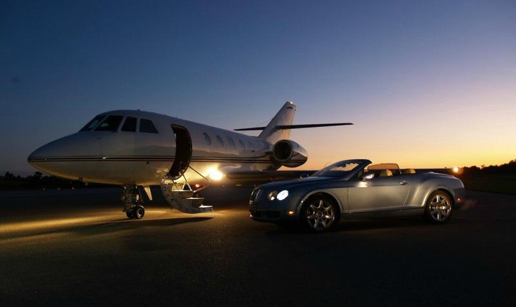 Private Jet Amp Bentley Continental GTC  Pleasantly Wealthy  Pinterest
