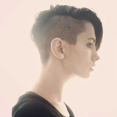 6.Half Shaved Pixie Cut