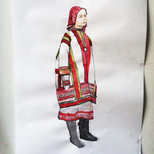 #shreterart #illustration #watercolor #russiandress #myart  #russian #шоетерарт #иллюстрация #русскийкостюм #мойрисунок