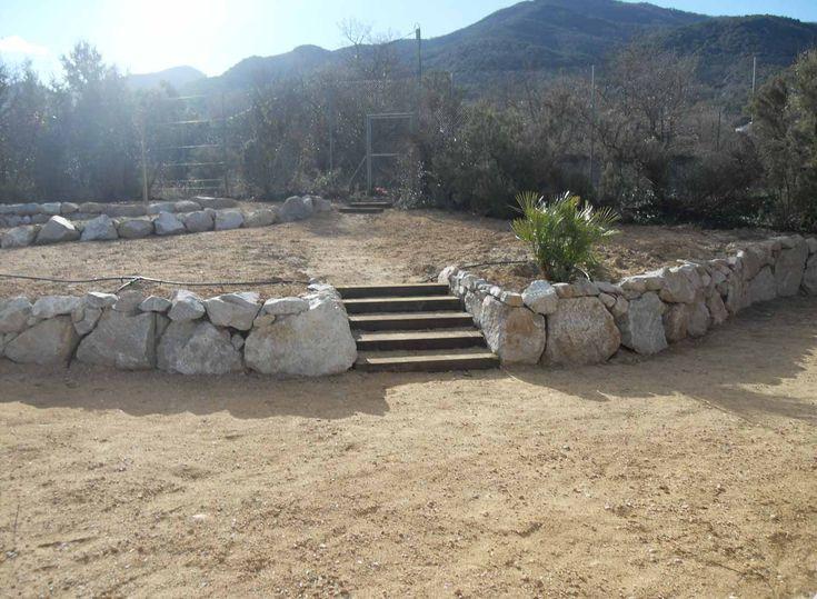 Enrochement Jardin dans les Pyrénées-Orientales