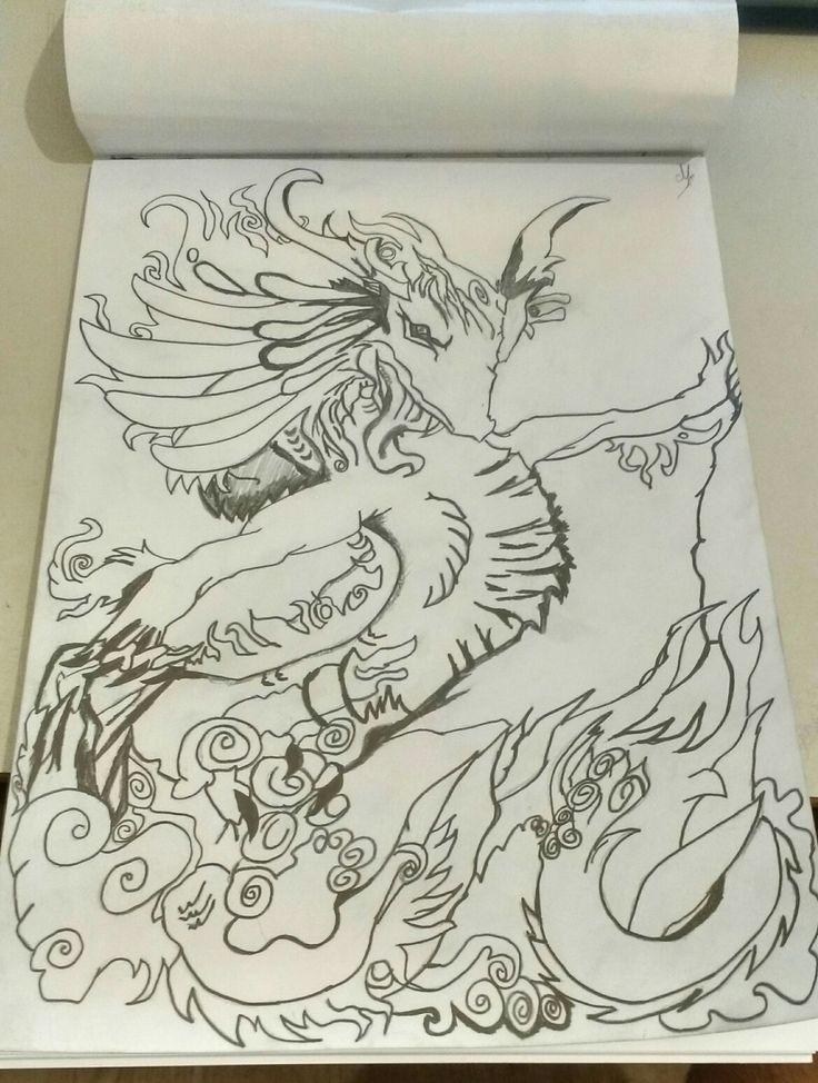 Dragão esboço