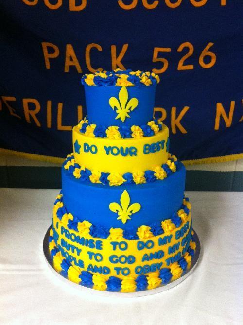 Blue & Gold cake