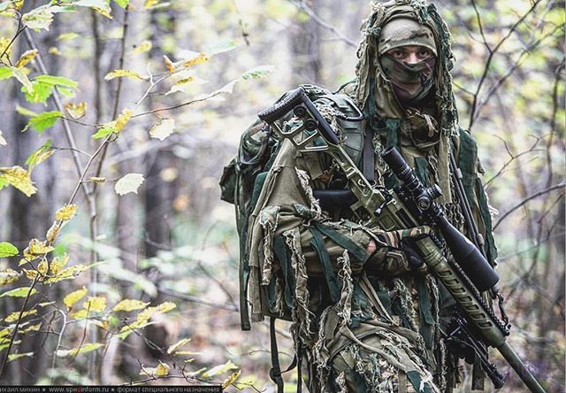 "Unknown spetsnaz unit with the TSVL-8 ""Stalingrad"" Sniper rifle. - Via: @warzone.inc"