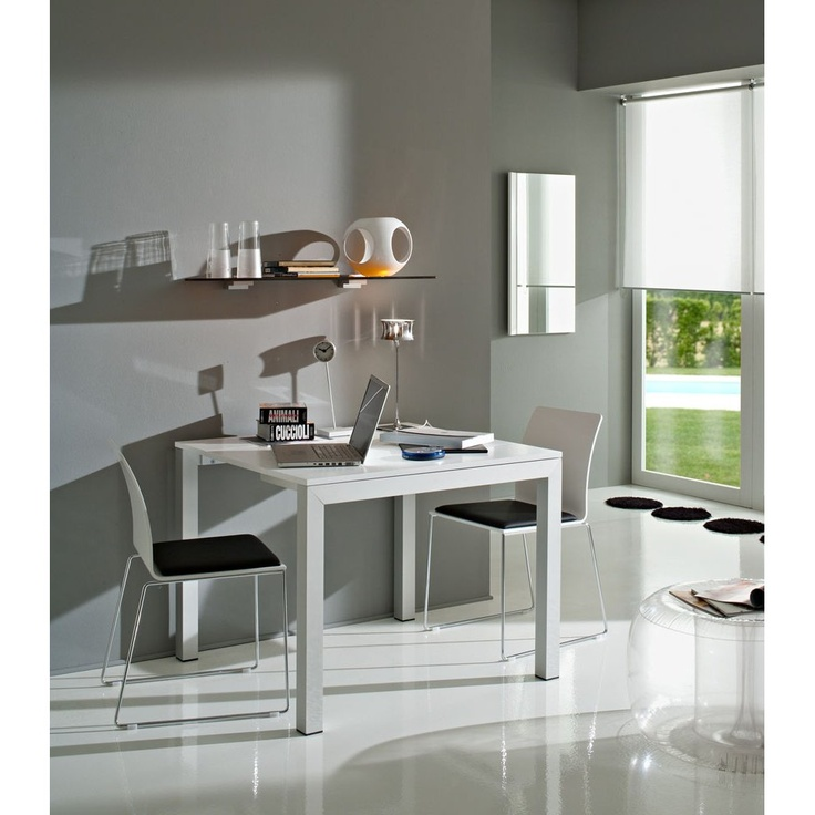 Tavolo/consolle estendibile in alluminio satinato by La Primavera  http://www.keihome.it/tavoli-e-sedie/tavoli/andrea-la-primavera/5465/