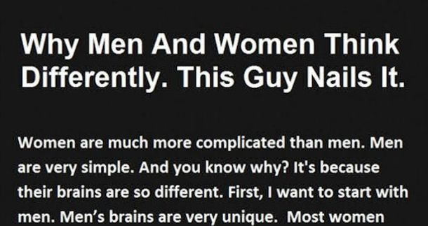 Why Men And Women Think Differently funny quotes quote men jokes women story lol funny quote funny quotes funny sayings joke humor omg stories