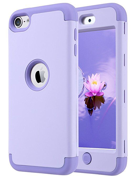 iPod Touch 6 Case,iPod Touch 5 Case,ULAK Heavy Duty High Impact KNOX ARMOR Case Cover Protective Case for Apple iPod touch 5 6th Generation (Purple)