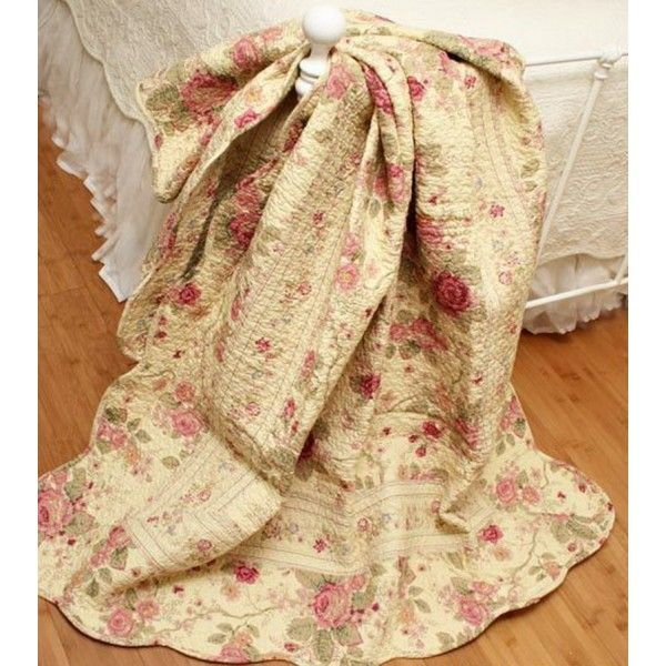 shabby chic quilts and comforters | 5pc Romantic Chic Shabby Rose Bedding Quilt Set