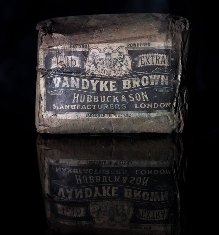 Original Vandyke Brown pigment made by Hubbuck and Son, Lime st London. Company was established in the late 1700's and was taken over in 1965.