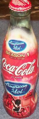 Coca-Cola Classic American Idol Season 1 Limited Edition 8oz Full Bottle