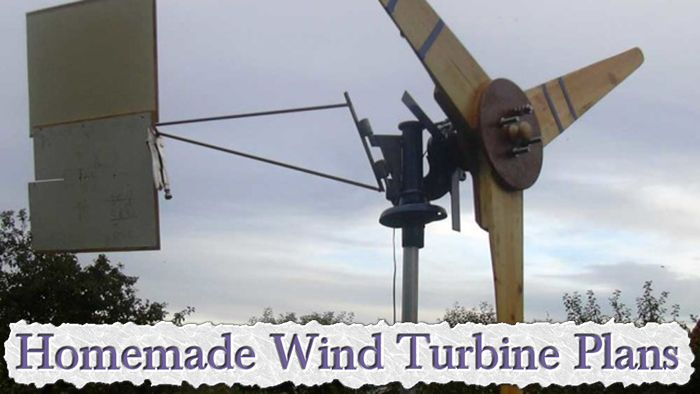 Homemade Wind Turbine Plans