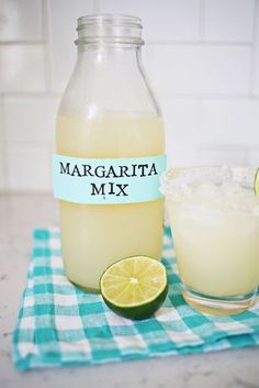Homemade Margarita Mix (so much better fresh!!) 1/2 cup sugar 1 cup water 1 cup lime juice (about 10 limes)  Squeeze the lime juice into a bowl or measuring cup. Heat the water and sugar in a saucepan over medium heat until the sugar has dissolved. Let the mixture cool a bit before adding in the lime juice, mix together, and pour into a bottle. Refrigerate the mix for up to two weeks.
