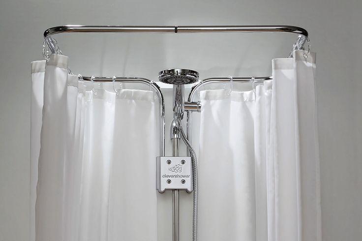 clevershower - Duschvorhang-Halterung ALBERT